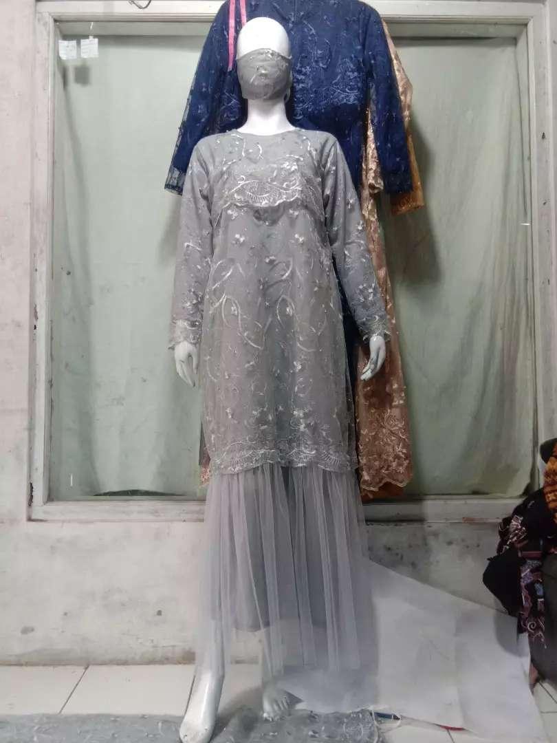 Brokat Gamis Kebaya Tile Mutiara Fashion Wanita 818755215
