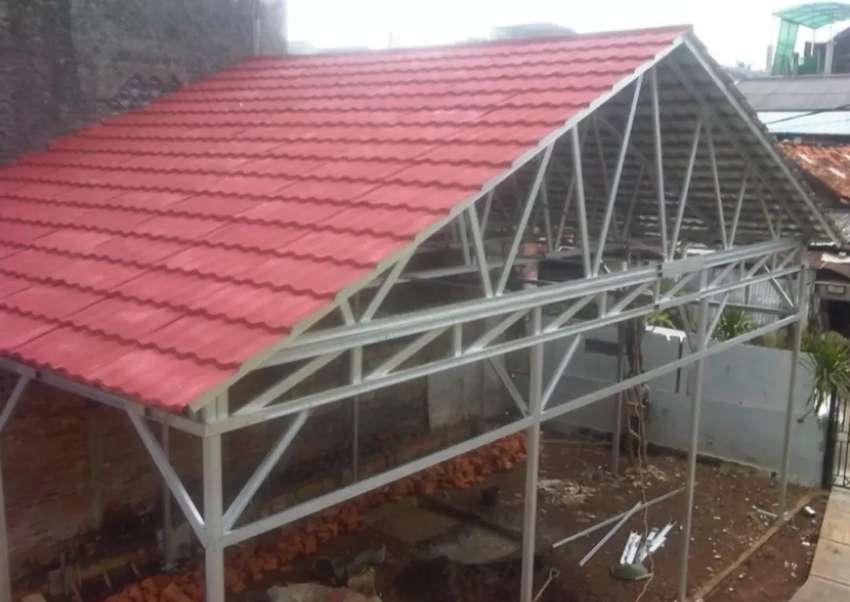 Kanopi Baja Ringan Atap Genteng Metal Pemasangan Jasa 750484745