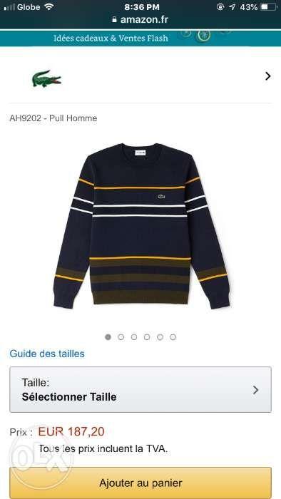 01e1f99fa6 Lacoste Sweater and Jackets Medium S4 100% Original in Marikina ...