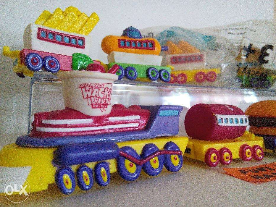 Sonic Restaurant Usa Wacky Pack Train Sets Happy Kids Meal Toys In