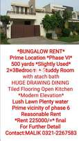 Bunglow For Rent 500sq.yards