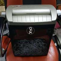 Paper shredder. With stylish basket. Came from UK