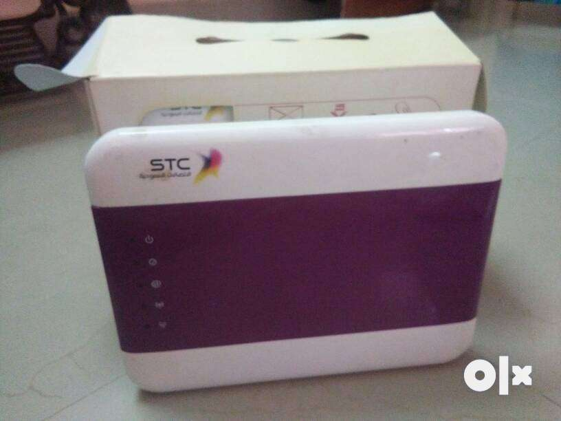 White And Purple STC Router With Box - Computer Accessories