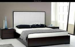 Flat style wooden bed