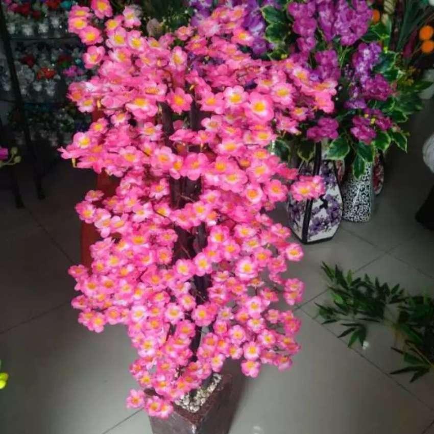 Terkin Pohon Hias Bunga Sakura Bunga Sakura Bunga Hias Plastik