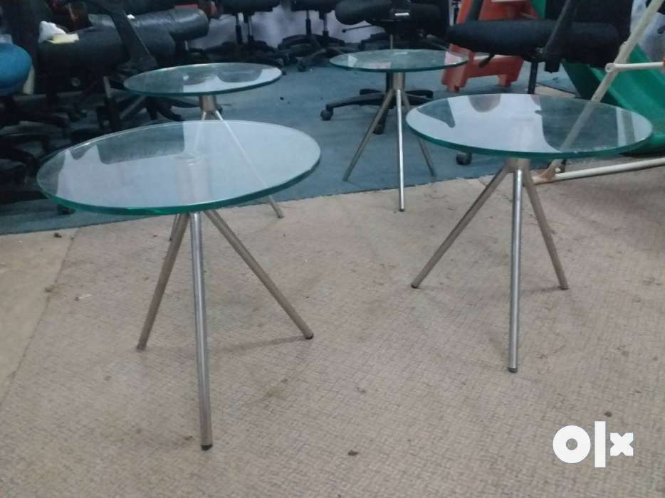 Glass Round Table Bas Steel good Coundsion 4 Pice  : images1000x700inslot3filenamepf01p575jvp03 IN from www.olx.in size 934 x 700 jpeg 50kB