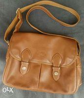 d540b183b4e2 Preloved Longchamp Brown Soft Leather Messenger Bag like Louis Vuitton