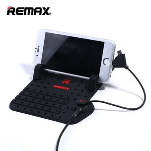 Remax Super Flexible Car Holder with Micro USB & Lightning Charger F