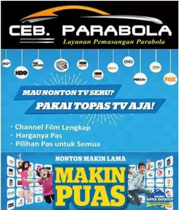 Pasang Parabola Gratis Channel HBO, FOX MOVIE, DLL