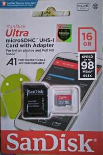 Sandisk 16gb 98mb original