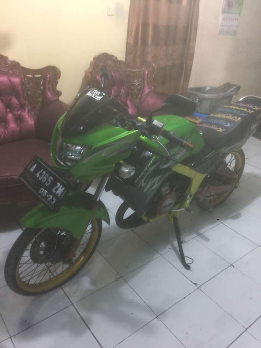 Kawasaki New Ninja R 150 Super Kips 2012 Hijau Modifikasi