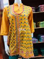 Embroided stitched qurtas