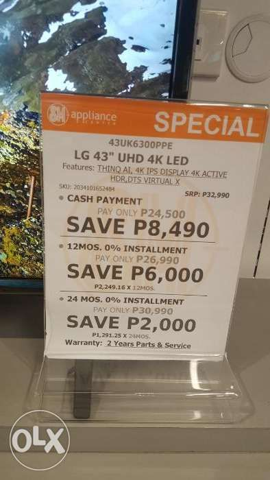 Lg Uhd Tv Ai Thinq 108cm Or 43inches Brand New In Pasig Metro