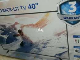 Brand new 40 inch haier led tv model 40k6000