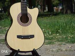 Wooden Acoustic Guitar A1 condition,with box picks