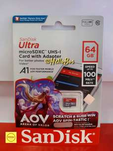 SanDisk ultra micro sd 64GB speed up to 100mb/s