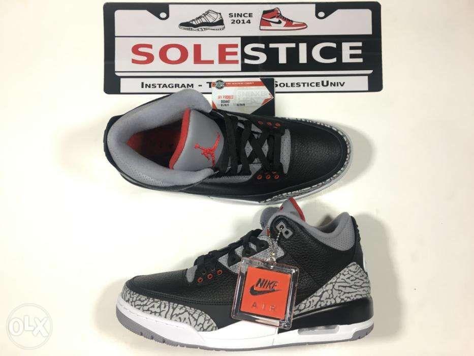 newest collection f6585 5bc93 Air Jordan 3 Black Cement Tinker Size 95 10 7y sz95 sz10 ...