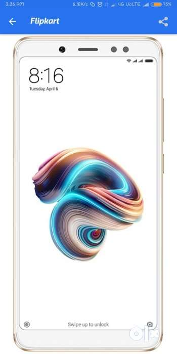Redmi Note 5 pro Gold 4/64 2 months old with Miui 10 & all
