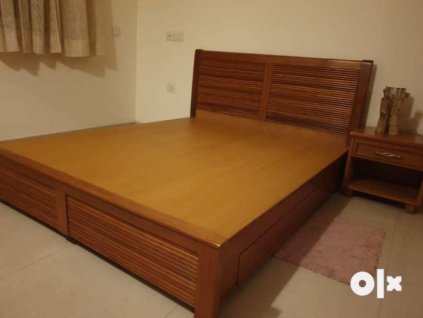 King Size Teak Wood Cot Beds Wardrobes 1505507170