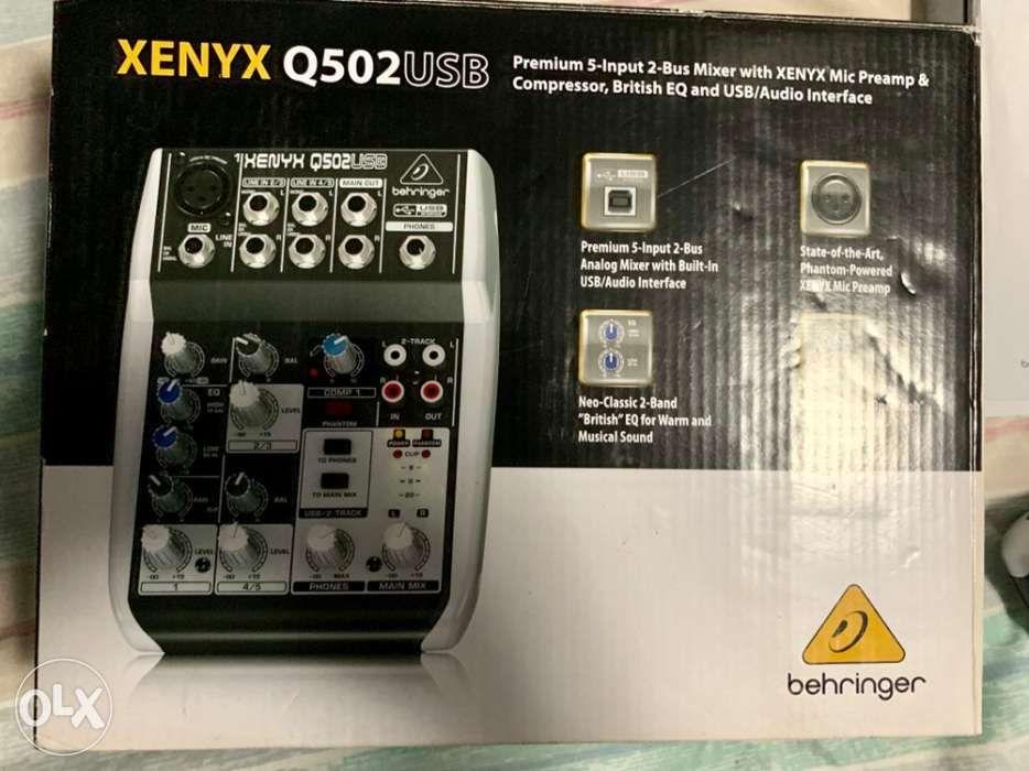 ... Audio Interface Mixer Behringer Xenyx Q502 USB ...