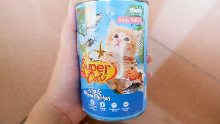 Makanan Basah Kucing Supercat Super Cat Baby Kitten 400gr Hewan Peliharaan 802665771