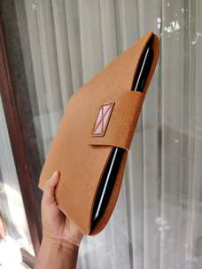 "sleeve case sarung laptop macbook laptop 15"" brown elegant"