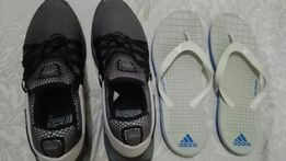 official photos 4199b 53706 Nike INI Shox and free adidas cloudfoam slippers