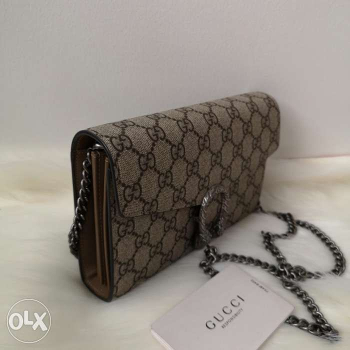 229b8e7ebcc Authentic Gucci Dionysus Crossbody Bag WOC GG Supreme in San Juan ...