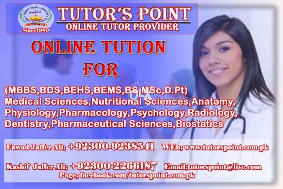 Tutors Point Academy ONLINE TUTOR For Mbbs, Bds, Mba, C.a & Acca ...