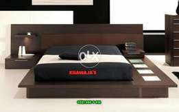 Excellent Bed with side table dressing