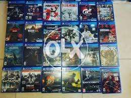 Ps4 games for sell and exchange