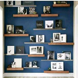 8pcs rakpajangan rakdinding floating shelf