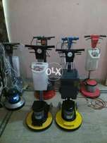 Floor cleaning and floor polishing machine
