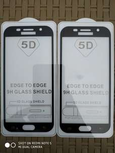 Tempered Glass Full 5D HITAM Samsung A5 2017 A520 Full Cover