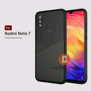 Slim Bussiness Leather Case Softcase Xiaomi Redmi Note 7/7 Pro