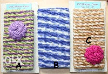 Crochet Cellphone Case And Crochet Pouch In San Jose Occidental