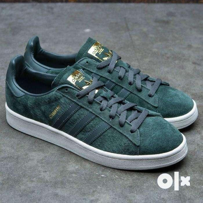Adidas Originals Campus Utility Ivy Green Reflective Gold Men s Size ... 66fc2b5ba73f