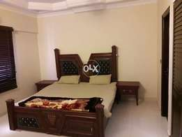 Female furnished 1bedroom attached washroom Common kitchen Loung dha6r