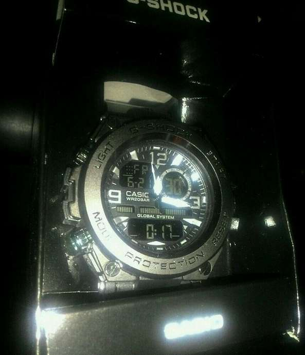 Jam G Shock Full Black Dual Time