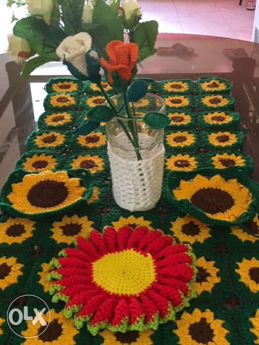 Handmade Crocheted Christmas Table Decorations In Hilongos Leyte