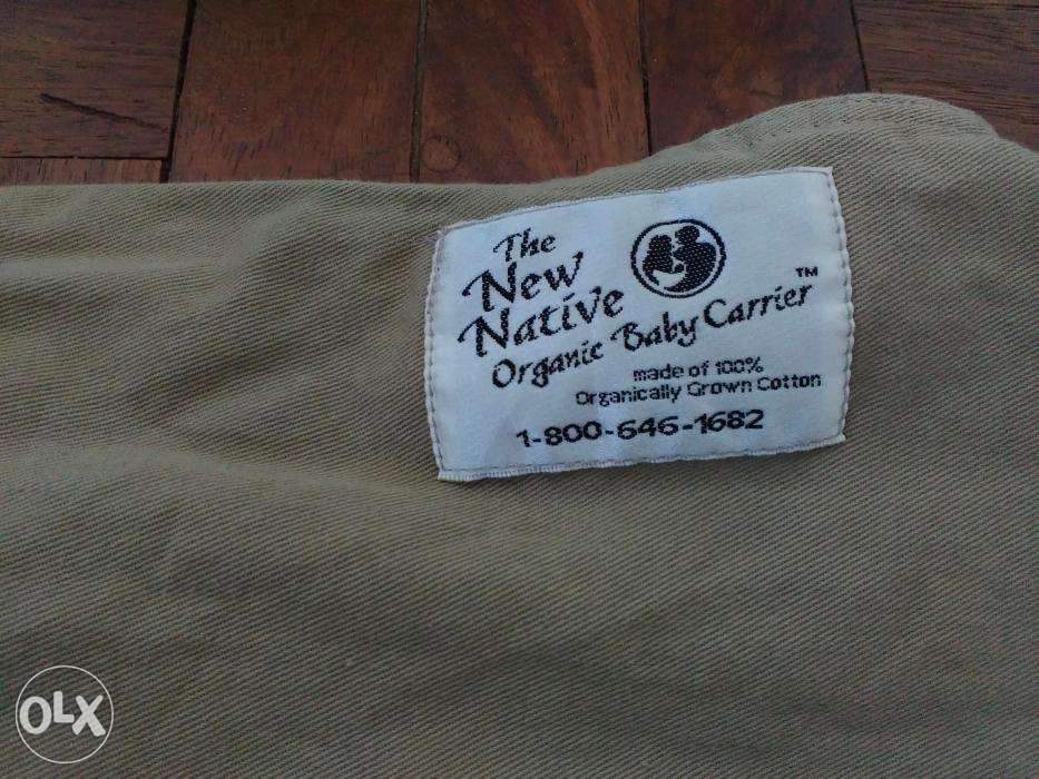 7faaf525d07 New Native 100 Organic Cotton Baby Carrier in Tagaytay City