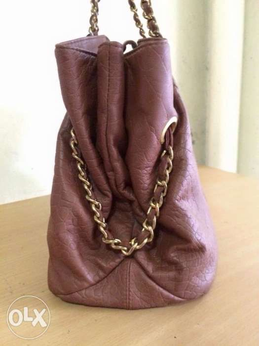 cbad12f4fb9c ... Auth Armani Exchange Large Chain Tote Bag not Coach Spade Kors Bally ...