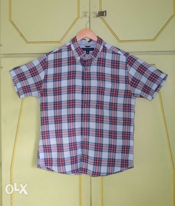 fe2fe4c4 Authentic Tommy Hilfiger Checkered Short Sleeve Shirt in Mandaluyong ...