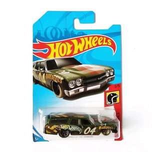 Hot Wheels 70 Chevrolet Chevelle SS Wagon Green Army