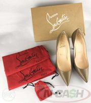 142ae7a837a Louboutin Decollete Taupe Pumps Chanel Prada Blahnik Louis Vuitton