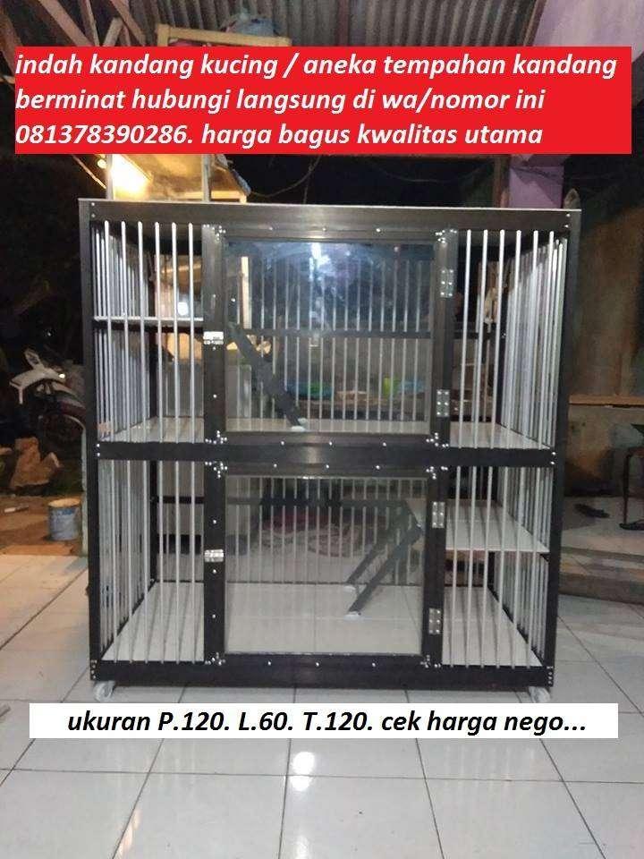 Kandang Kucing 2 Tingkat Aluminium Super Jumbo Hewan Peliharaan 752507638