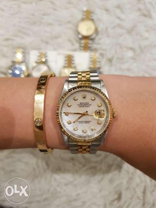 22a07bd6162 Rolex Datejust Twotone Mens with Diamonds Mens Size in Quezon City ...