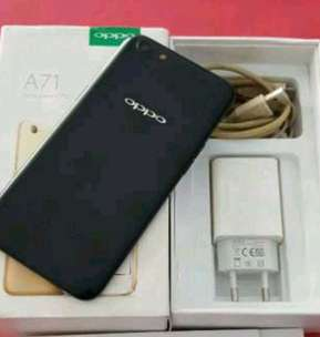 Oppo A71 black matte 3/32 sensor wajah normal segel lancar