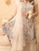 Bridal Dress (Nikkah/Engagement) along with Jewellery
