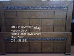 Ash wood and shisham bed with warranty From Mian furniture